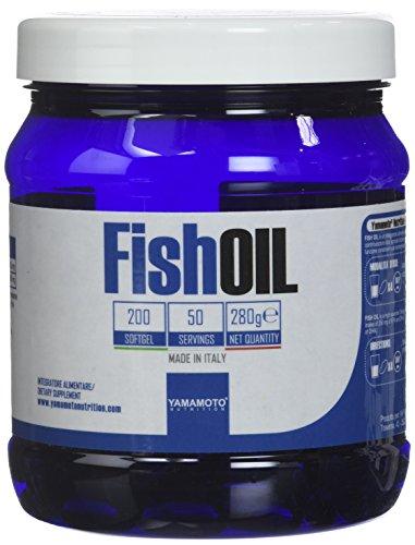 Yamamoto Nutrition Fish OIL integratore di acidi grassi essenziali Omega-3, EPA e DHA da Olio di pesce (200 softgel)