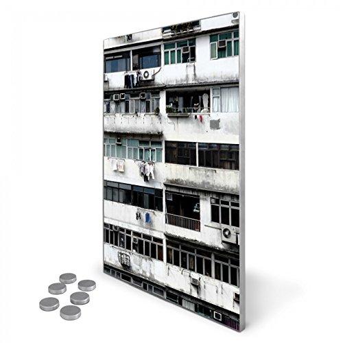 tablon-magnetico-de-acero-inoxidable-35-x-50-cm-incluye-6-imanes-diseno-magnetico-pared-para-cocina-