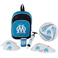 OLYMPIQUE DE MARSEILLE Football kit Om - Sac + Ballon + Pompe + Brassard + plots Om - Collection Officielle