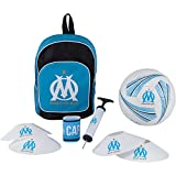 Football kit OM - Sac + ballon + pompe + brassard + plots OM - Collection officielle Olympique de Marseille