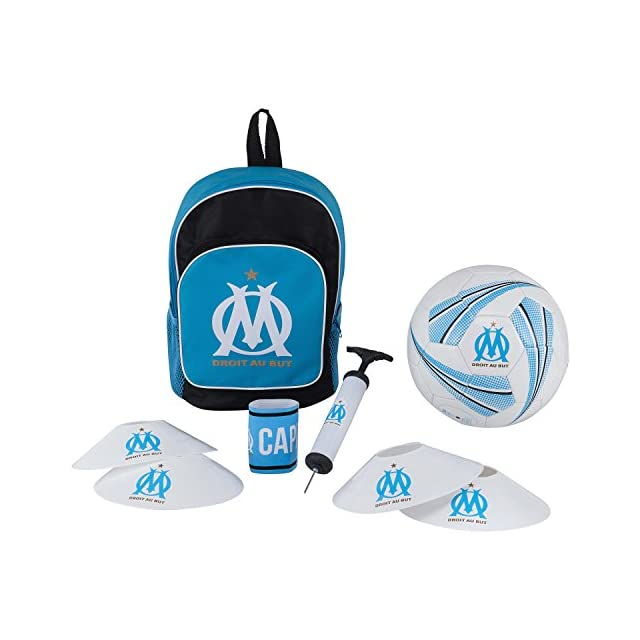 05ee510dfd OLYMPIQUE DE MARSEILLE Football kit Om - Sac + Ballon + Pompe + Brassard +  plots ...