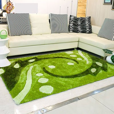 GRENSS Chambre pastorale moderne tapis scenic verte pâleur kilim décoration Salon tapete élasticité rectangle tapis et moquettes fly vert,tricot,1400mm x 2000mm