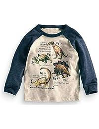 Kaily Junge' Crewneck Langarm Cartoon T-shirt