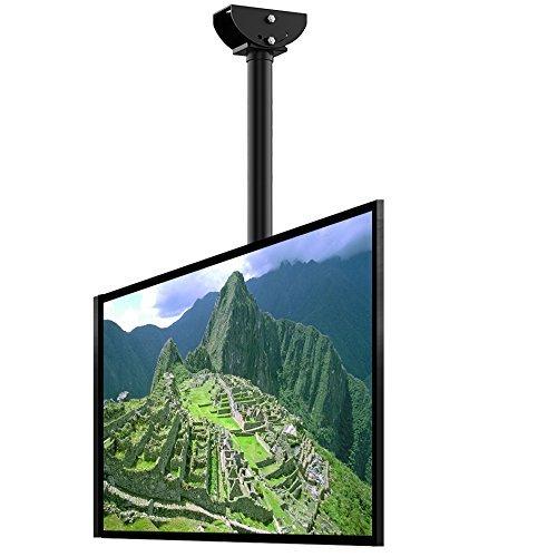 Fleximounts CM2 TV Deckenhalterung Schwenkbar Neigbar Fernseher Halterung 32-65 Zoll Monitorhalterungen Fernsehhalterung LED LCD Halter Flachbildschirm VESA 600x400 Belastung bis zu 60 kg
