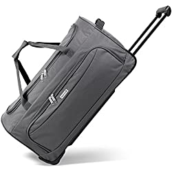 noorsk Geräumige Reisetasche Sporttasche in Verschiedenen Farben - XL - Grau