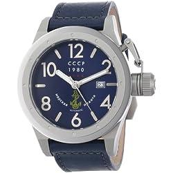 CCCP Herren CP-7017-04 Delta Analog Display Japanese Quartz Blue Armbanduhr