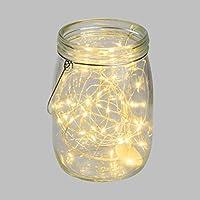 Xmas King Tarro con Luces LED de Cristal Trasparente h 15,5 cm, 40