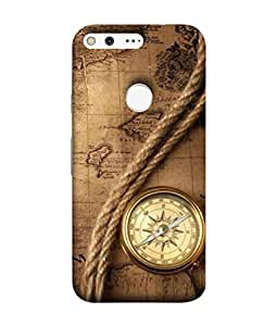 PrintVisa Designer Back Case Cover for Google Pixel (North Geography Ancient Travel Rope Tool)