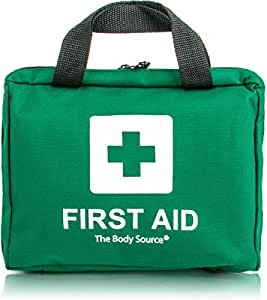 90 Piece Premium First Aid Kit Bag - Includes Eyewash, 2 x Cold (Ice) Packs and Emergency Blanket for Home, Office, Car, Caravan, Workplace, Travel