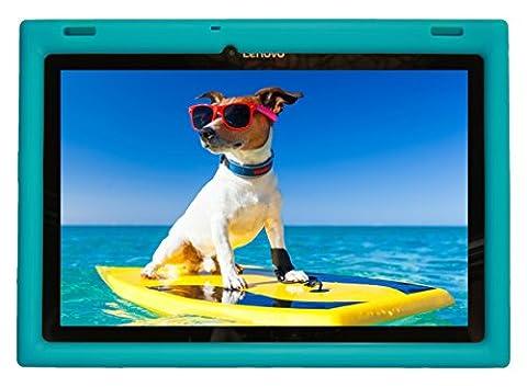 Bobj Etui en Silicone Robuste pour Tablette Lenovo 10 TB-X103F and Tab 2 A10-30, Tab2 X30F - BobjGear Housse de Protection (Turquoise)