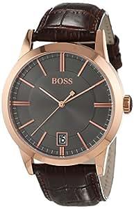 Hugo Boss - 1513131 - Montre Homme - Quartz - Analogique - Bracelet cuir Marron
