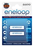 SANYO eneloop AAA Ready to Use Micro NI-MH Akku HR-4UTGB-2BP (750 mAh, 2er Pack)