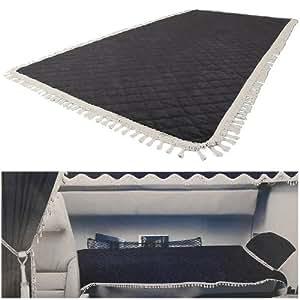 lkw tagesdecke schwarz wei velour 200x90cm dekoration. Black Bedroom Furniture Sets. Home Design Ideas