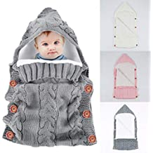 Yinuoday - Saco de dormir con capucha para bebé recién nacido, manta para bebés de