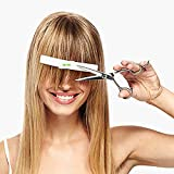 Oramics Haarschneide Hilfe 2-er Set Pony Lineal - praktisches Styling Werkzeug inkl. integrierter Wasserwaage - Haar-Styling-Tools als Kunststoff Haarschneide-Clips (2er Pack)
