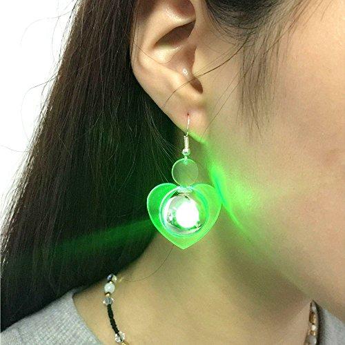 zform Ohrring LED Leuchten Helle Stud Glowing Kristall Ohrringe Für Mädchen Damen Männer Frauen Tanzen Party Bar ()