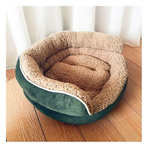 Kostüm Stein Kunst - JXLBB Katzenstreu-Hundehütte-frische Kunst-hohe rückseitige starke Herbst-Winter-warme Haustier-Mat-Bett-Sofa-Versorgungsmaterialien (Color : Green)