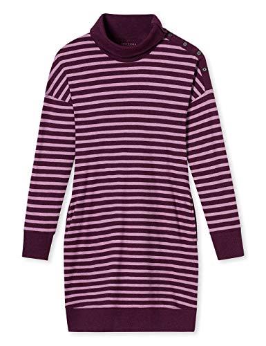 Schiesser Damen Nachthemd Sleepshirt 1/1 Arm, 100cm, Rot (Bordeaux-Mel. 521), 46