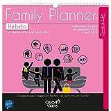 Quo Vadis - Time & Life - Calendrier Family Planner Hebdo - Agenda Scolaire 30x30 cm - Année 2016-2017