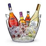 yobansa® 8L klare Acryl Wein und Champagner Eis Eimer Bar Werkzeuge große Eiskübel