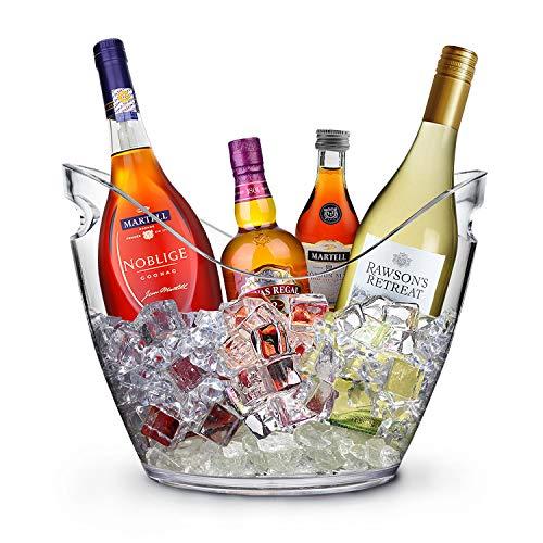 YOBANSA 8L Acryl Eis Eimer Champagner Eimer Wein Eimer, Große Eiskübel, Küche Obst und Gemüse Vorratsbehälter