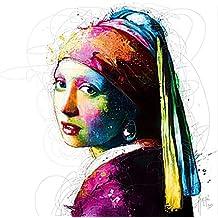 Vermeer Pop, impresión artística – Póster , Patrice Murciano, tamaño 70 cm x 70 cm , impresión de alta calidad, sin marco, Pop-Art, Cyber-Art , Punk, enviado en modo rollo firme