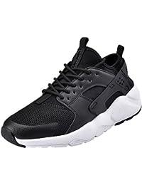 NEOKER Chaussures de Running Sport Basket Basses Entraînement Légère Respirante Noir Sneakers pour Homme 39-45