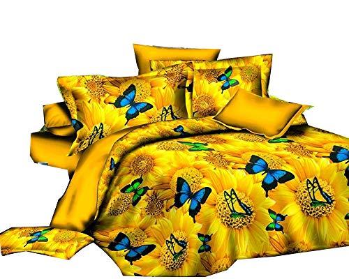 twäsche Set Bettbezug Bettwäsche Tröster Queen Size 4Piece ()