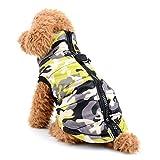 Zunea, Winterjacke für Hunde mit Tarn-Druck, warmer Baumwoll-Mantel mit, für kleine Hunde