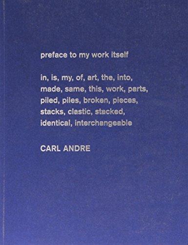 Carl Andre. Escultura como lugar. 1958-2010 por Yasmil Raymond