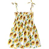 Outtop(TM) Clothes Child Fathion Summer Cartoon Floral Dress Clothes Sundress Casual Dresses 3T(2~3years) Yellow