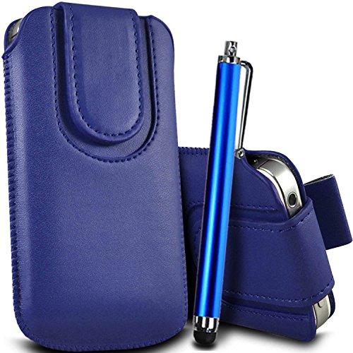 Vert/Green - Nokia Lumia 635 Housse et étui de protection en cuir PU de qualité supérieure à cordon avec fermeture par bouton magnétique et écouteurs intra-auriculaires de 3,5 mm assortis par Gadget G Bleu/Blue & Stylus Pen