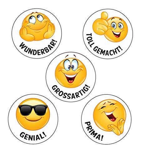 125 x Genial! Emoji-Belohnungsaufkleber für Lehrer