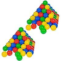 Knorrtoys 56781 - 200 Bälle in knalligem Blau, Rot, Gelb und Grün ohne gefährliche Weichmacher Ø6 cm - TÜV zertifiziert - preisvergleich bei kleinkindspielzeugpreise.eu