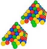 Knorrtoys 56781 - 200 Bälle in knalligem Blau, Rot, Gelb und Grün ohne...