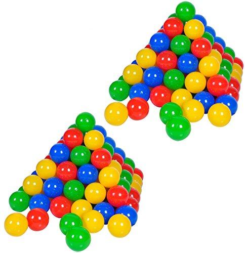 Knorrtoys 56781 - 200 Bälle in knalligem Blau, Rot, Gelb und Grün ohne gefährliche Weichmacher Ø6 cm - TÜV zertifiziert -