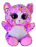 Blickfänger Bauer Spielwaren Glitter Lashy Katze Plüschtier: Kuscheltier mit Glitzer-Katzen-Augen, Ideal Auch als Smartphone-Halter, 20 cm, Pink-Bunt (14246)