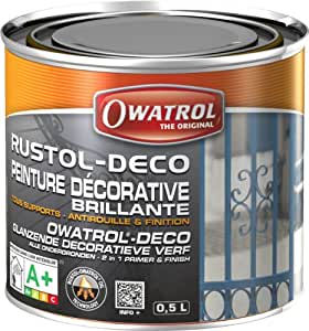Owatrol Rustol-Deco Peinture décorative brillante 0,5 L Vert