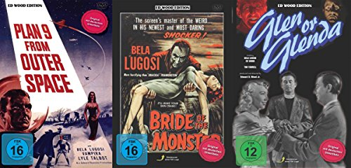 Ed Wood & Bela Lugosi Collection - Plan 9 From Outer Space + Bride Of The Monster + Glen Or Glenda 3 DVD Edition -