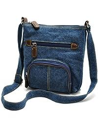 Zoonai Women Multi Pocket Crossbody Shoulder Bag Small Organizer Purse Wallet
