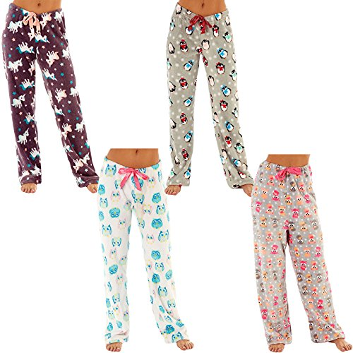 Ladies Fleece Pyjama Pajama Bottoms Lounge Pants PJ Nightwear - 51AjvOKtgDL - Ladies Fleece Pyjama Pajama Bottoms Lounge Pants PJ Nightwear