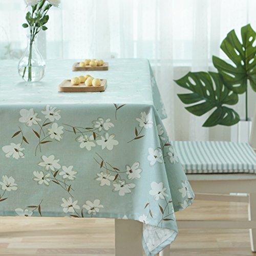 XMMLL Continental manteles de lino de algodón impermeable descansando Oil-Resistant Cleaning-Free rectangulares...