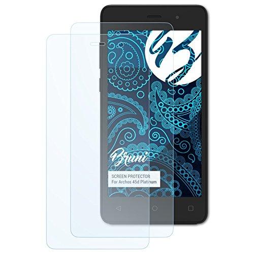 Bruni Schutzfolie für Archos 45d Platinum Folie, glasklare Bildschirmschutzfolie (2X)