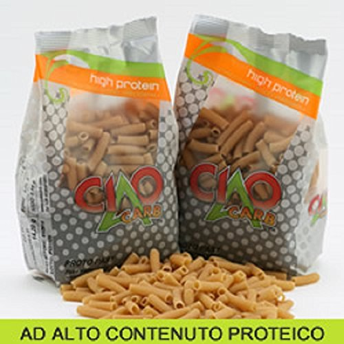Pasta proteica 250 gr - sedani rigati - altissimo contenuto di proteine (60%!!!) - offerta speciale 10 confezioni - sp060
