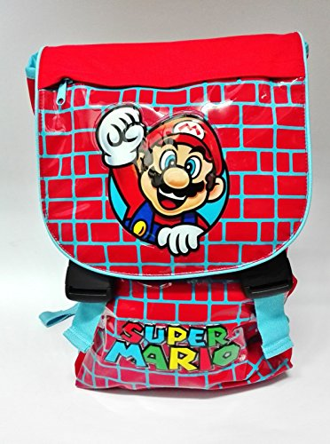 Rucksack erweiterbar Super Mario Bros Fantasia Steine rot hellblau