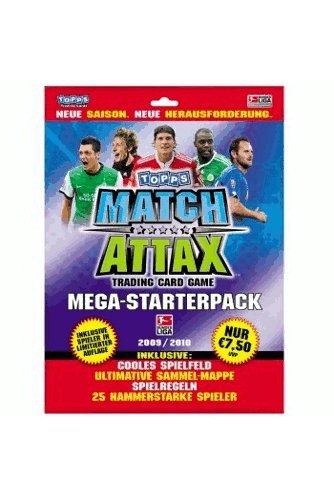 Preisvergleich Produktbild Topps Match Attax Fußball Sammelmappe mit Sammelkarten- Starter Pack Bundesliga 2009/2010
