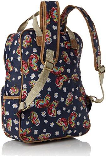 Swanky Swans Damen Dana Daisy Butterfly Rucksackhandtasche, 11x39x30 cm Blau (Navy Blue)