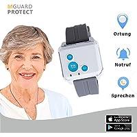 M-GUARD/Notrufarmband / Notfallknopf für Senioren/Notruf Armband/Notrufsystem mit GPS-Ortung