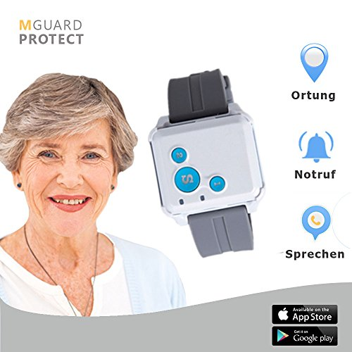 M-Guard/Notrufarmband/Notfallknopf für Senioren/Notruf Armband/Notrufsystem mit GPS-Ortung -