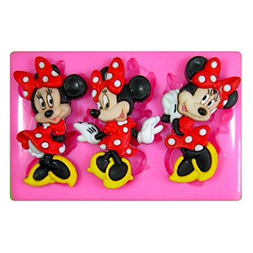 Minnie Maus Silikon Form für Kuchen Dekorieren, Kuchen, kleiner Kuchen Toppers, Zuckerglasur Sugarcraft Werkzeug durch Fairie Blessings (Backen Maus Mickey)